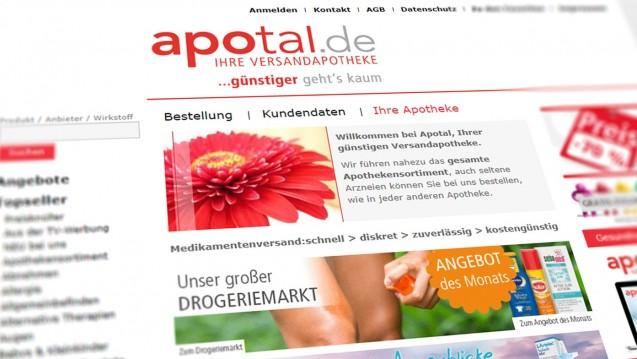 Zur Rose ist auf Shoppingtour: Die DocMorris-Mutter Zur Rose AG übernimmt die deutsche Versandapotheke Apotal. (c / Screenshot shop.apotal.de)