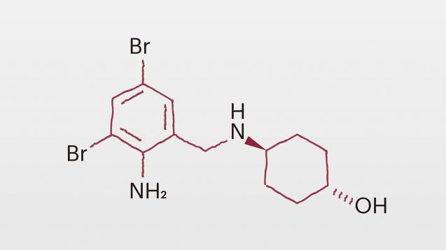 Ambroxol ist ein Metabolit von Bromhexin. (x)