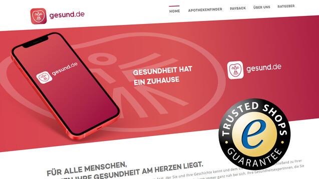 Gesund.de startet demnächst sein Web-Angebot – aktuell ist unter der Domain noch die Ankündigung zu sehen. (x / Screenshot: Gesund.de / DAZ)
