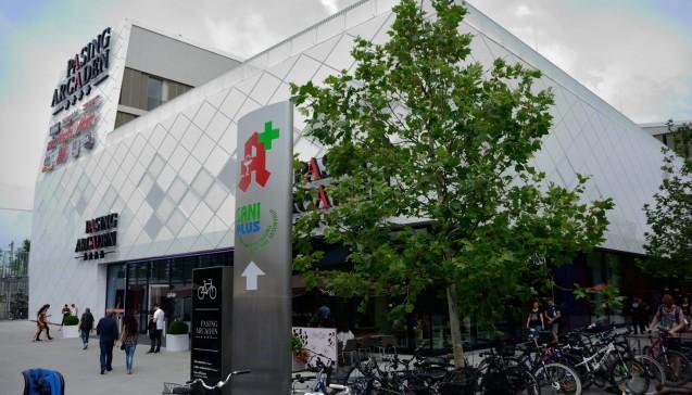 Die Pasing Arkaden: In diesem Einkaufszentrum im Westen Münchens liegt eine weitere Filialapotheke. (Foto: hfd / DAZ.online)