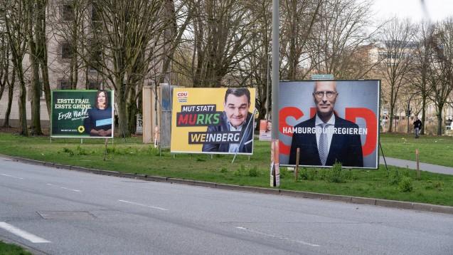 In Hamburg herrscht derzeit Wahlkampf: Am kommenden Sonntag wird eine neue Bürgerschaft gewählt. Die Parteiprogramme der SPD und der FDP enthalten für Apotheker zwei interessante Punkte. (Foto: imago images / Janßen)