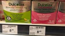 Dulcolax für Frauen in Kanada: rosa und teurer. (m / Foto: jb / DAZ.online)