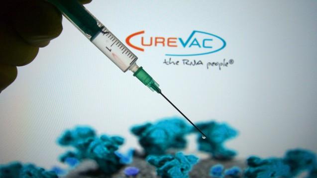 CVnCoV, der mRNA-basierte COVID-19-Impfstoffkandidat von Curevac, ist im Kühlschrank stabil – ein Vorteil gegenüber RNA-Impfstoff BNT162b2 von Biontech/Pfizer. (Foto: imago images / Sven Simon)