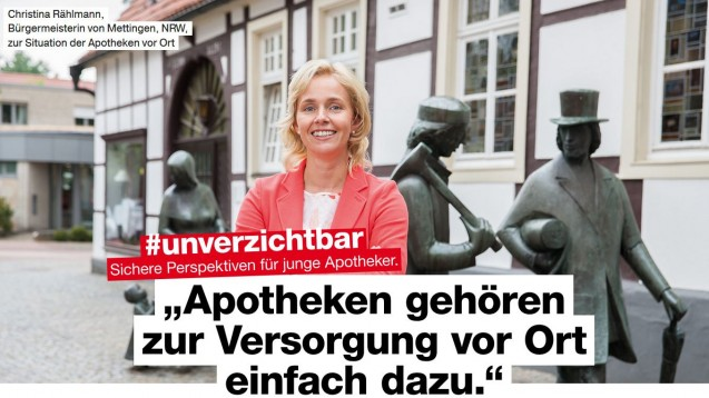Die ABDA wirbt im Rahmen ihrer PR-Kampagne derzeit mit mehreren Bürgermeistern aus ganz Deutschland. (s/ Foto: ABDA)