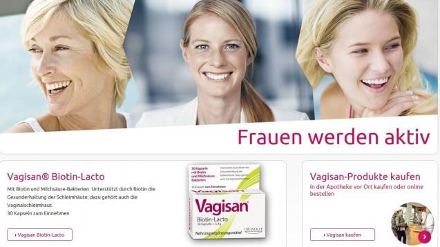Wettbewerbsrechtlich nicht zu beanstanden: Die Kauf-Optionen im Internetauftritt von Vagisan. (Screenshot: vagisan.de / DAZ.online)