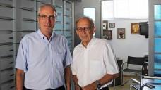 Kostas Lourantos im Gespräch mit DAZ-Herausgeber Peter Ditzel. (Foto: DAZ)
