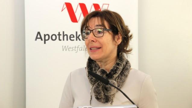 Gabriele Regina Overwiening, Kammerpräsidentin in Westfalen-Lippe, hätte sich gewünscht, dass Bundesgesundheitsminister Jens Spahn das Makelverbot für E-Rezepte und die pharmazeutischen Dienstleistungen aus der Apothekenreform ausgliedert und separat umsetzt. (c / Foto: AKWL)