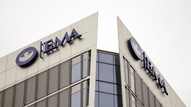 Werden die Auflagen eines beschleunigten Zulassungsverfahrens nicht erfüllt, kann die EMA die Zulassung widerrufen. Dies trifft im aktuellen Fall das Antikörper-Präparat Lartruvo von Lilly. ( r / Foto: EMA-Gebäude hier noch in London / imago images / xAlbertoxPezzalix)