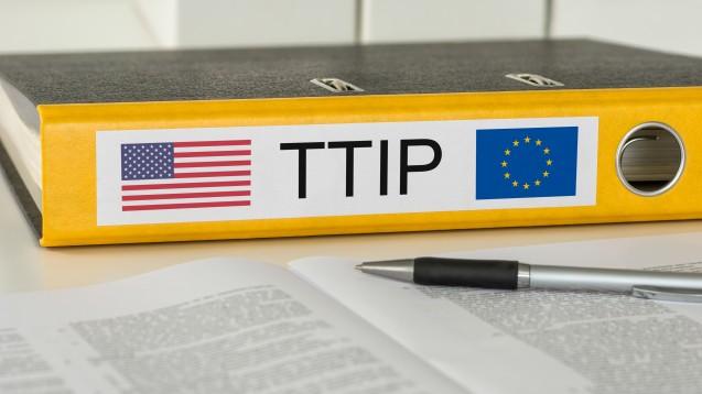 Mit einer Resolution will das EU-Parlament der EU-Kommission den Weg für die TTIP-Verhandlungen weisen. (Foto: Zerbor/Fotolia)