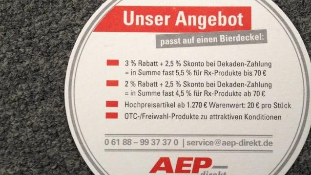 Kein weiterer Nachlass: Aus Sicht des OLG Bamberg ist es der Wille des Gesetzgebers, dass Großhandelsrabatte gedeckelt sind. (Foto: DAZ)