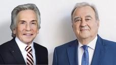 """Christopher Hermann, Vorstandsvorsitzender AOK Baden Württemberg und DAV-Chef Fritz Becker: Eine """"überraschende Liaison"""", finden die Arzneimittel-Importeure. (Foto: DAZ / AOK / DAV)"""