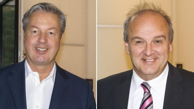 Wort & Bild-Chef Arntzen und der Vorsitzende des Apothekerverbands Schleswig-Holstein, Peter Froese, sind offen für eine Kooperation. ( r / Foto: tmb)