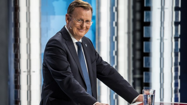 Thüringens Ministerpräsident Bodo Ramelow (Linke) könnte aufgrund einer Besonderheit der Thüringer Verfassung einfach im Amt bleiben, auch wenn sich keine neue Regierungskoalition findet. (Foto: imago images / Schröter)