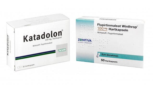 Die Hersteller rufen alle Chargen ihrer  Flupirtin-haltigen Arzneimittel zurück. (Foto: Teva /Schwanen Apotheke / Montage: jh, daz.online)
