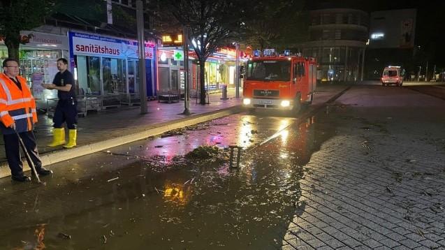 Apotheker Christian Fehske hat Glück gehabt. Der Keller seiner Rathaus-Apotheke in Hagen ist nicht vollgelaufen. (Foto: privat)