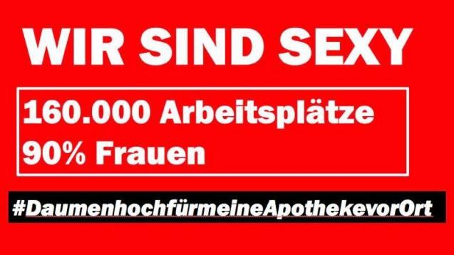 Einer der Slogans, die die beiden Apotheker entworfen haben. (Bild: J. Reuter / A.-K. Kossendey-Koch)