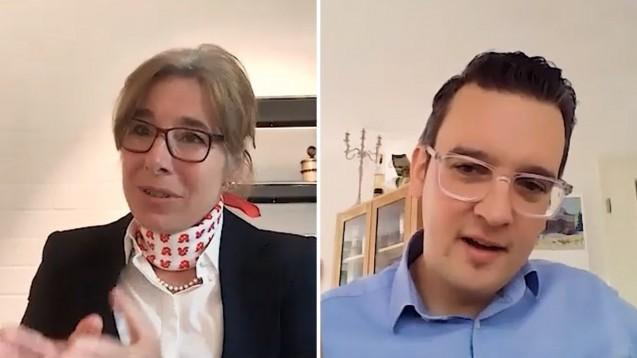 Gabriele Regina Overwiening, Präsidentin der AKWL, im Video-Interview mit DAZ.online-Chefredakteur Benjamin Rohrer. (x/Foto: DAZ.online)