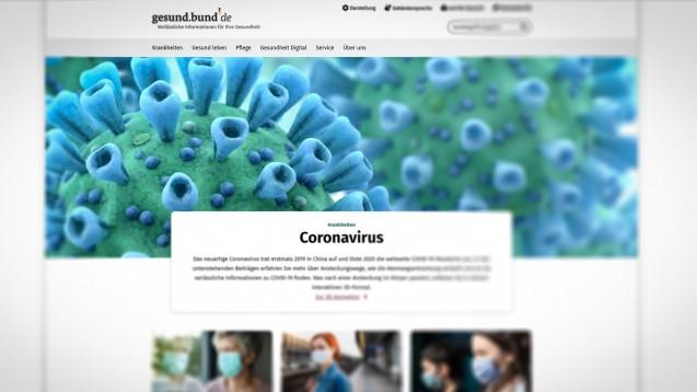 Mit dem Nationalen Gesundheitsportal will das Bundesgesundheitsministerium die Bevölkerung zu Gesundheitsthemen informieren. (Screenshot: gesund.bund.de)