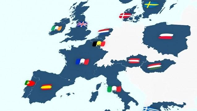 Interaktive Europa-Karte: Nach und nach werden Sie sich auf dieser Karte per Klick über die Apothekensysteme des jeweiligen Landes informieren können. (Grafik: DAZ.online)