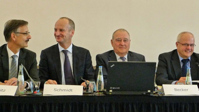 Die ABDA-Spitze heute bei der DAT-Auftaktpressekonferenz in Düsseldorf. (Foto: diz/DAZ)