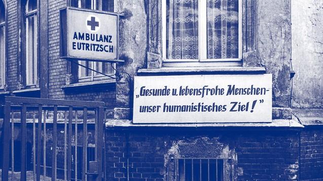 """Klinische Studien in der DDR: Die Studie """"Testen im Osten"""" untersuchte die Zeit von 1962 bis 1990. (Foto: Ambulanz Leipzig Eutritzsch, 1980. Sieghard Liebe, Stadtgeschichtliches Museum Leipzig)"""