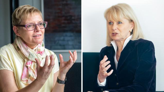 Sabine Dittmar (SPD, links) und Karin Maag (CDU) finden: Mit ihrem Vorschlag zur gemeinsamen Nutzenbewertung greift die EU-Kommission zu weit in die Befugnisse der Mitgliedstaaten ein. (Foto: Külker)