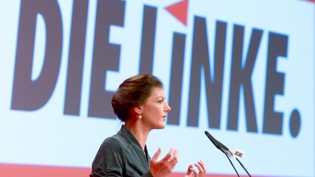 Die Fraktion Die Linke im Bundestag und ihre Vorsitzende Sahra Wagenknecht wollen wissen, ob und wie die Bundesregierung gegen Lieferengpässe bei Arzneimitteln vorgeht. (Foto: dpa)