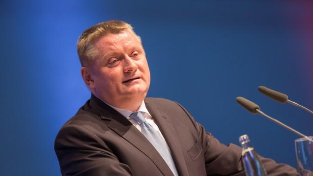 Bundesgesundheitsminister Hermann Gröhe sprach ausführlich zur Digitalisierung– und streifte das Thema Rx-Versandverbot dabei nicht. (Foto: Schelbert)