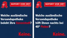 Noweda hat im Rahmen einer Informationskampagne Plakate entworfen, die auf Leistungen der niedergelassenen Apotheken vor Ort hinweisen. (Fotos: Noweda)