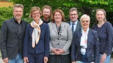 Der neue Vorstand der Landesapothekerkammer Thüringen (v.l.): Dr. Jörg Wittig (1. Vize-Präsident), Sylvia Fandrei, Matthias Zink, Sabine Kratky (2. Vize-Präsidentin), Ronald Schreiber (Präsident), Dr. Anke Ritter und Andrea Kern. (m / Foto: LAKT)