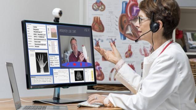 Symbolfoto zur Telemedizin: Das Interesse an der Tele-Medizin – und damit verbunden an E-Rezept-Lösungen – ist insbesondere in den weniger besiedelten Flächenländern groß.(Foto:imago images / Jochen Tack)