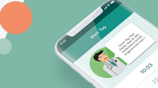 """Die App """"Antibiotika.Coach"""" (AB.Coach) soll den Patienten dabei unterstützen, sein Antibiotikum zur richtigen Zeit einzunehmen. ( t / Foto: Screenshot ABCoach.info)"""