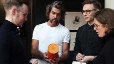 Orthomol-Chef Glagau (2. von links) mit dem Team von Isaac Nutrition,  die Insektenprotein auf den deutschen Markt gebracht haben.(m / Foto: Orthomol GmbH Pressematerial)