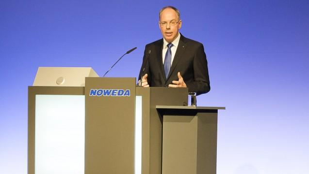 Noweda-Chef Michael P. Kuck und der Rest des Vorstands der Genossenschaft rufen die Apotheker zur Teilnahme an der Petition zum Rx-Versandverbot auf. (s / Foto: Noweda)