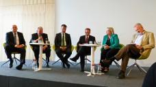 Polit-Diskussion beim 52. DAV-Wirtschaftsforum in Berlin. (Foto: DAZ)