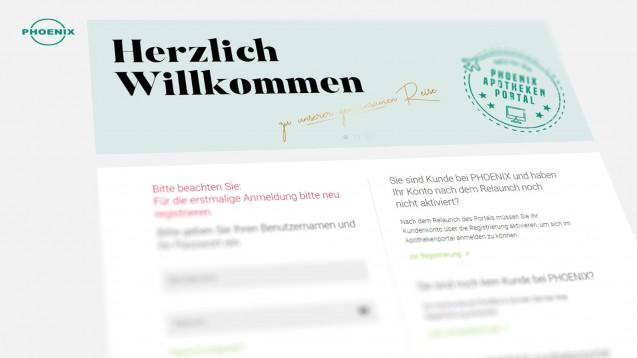 Ein neues Online-Portal soll Phoenix-Kunden die Arbeit erleichtern. (m / Screenshot: phoenix-apothekenportal.de)