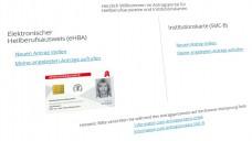 (Screenshot: DAZ.online / ehealth.d-trust.net/antragsportal/)