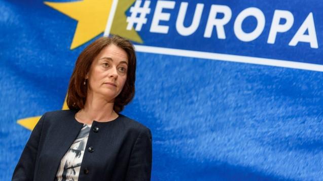 Sollte Amazon in Europa ins Gesundheitswesen einsteigen wollen, müsse man über eine Aufspaltung des Konzerns nachdenken, meint die Vizepräsidentin des EU-Parlamentes, Katarina Barley (SPD). (Foto: imago images / snapshot)