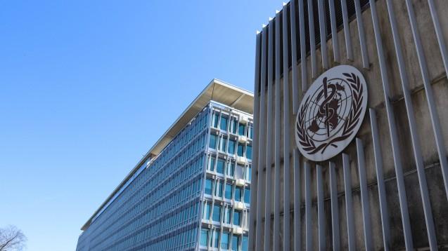 Außenansicht des Hauptsitzes der Weltgesundheitsorganisation (WHO) in Genf, Schweiz. (Foto: IMAGO / Xinhua)