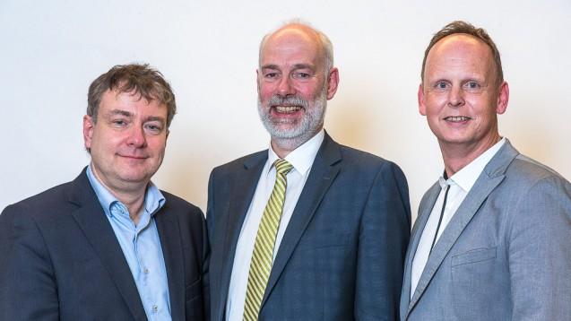 Der LAV-Vorstandsvorsitzende Berend Groeneveld (Mitte) mit seinen beiden Stellvertretern Frank Germeshausen (links) und Dr. Mathias Grau (rechts).(Foto: LAV)