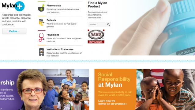 Nach einer Analyse des US-Finanzunternehmens Wells Fargo soll Mylan die Preise für einige Arzneimittel stark erhöht haben - um 15 bis zu 500 Prozent. (Screenshot: DAZ.online)