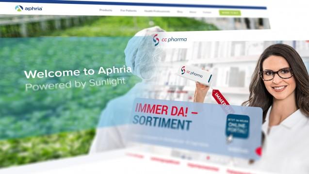 Die Dynamik im Cannabismarkt ist fesselnd für Anleger – und manchmal stressig für Apotheker. (m / Screens: aphria.com | cc-pharma.de)