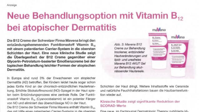 Die Indikation atopische Dermatitis (Neurodermitis) ist jetzt wieder Gegenstand der aktuellen Werbekampagne von Mavena. ( Foto: du / daz)