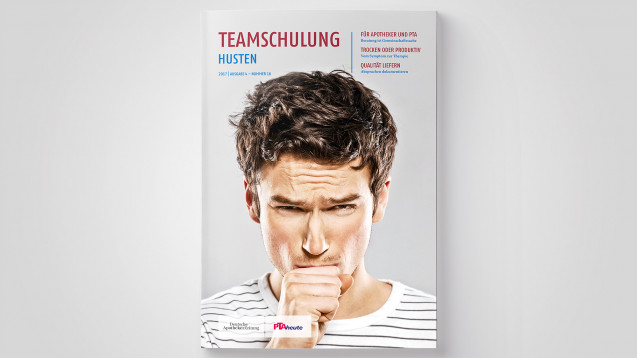 Die Teamschulung mit dem Thema Husten finden alle Abonnenten der DAZ als Beilage der Ausgabe 48/2017
