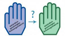 Ein Fehldruck hat die blaue Handbeim Notfall-Arzneimittel Jext®Adrenalin-Autoinjektor grün werden lassen. (m / Foto: Hilbert / DAZ.online)