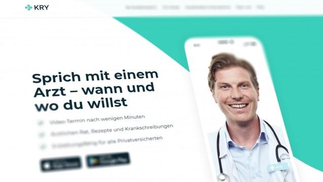 Die schwedische Online-Praxis Kry kooperiert ab sofort mit DocMorris. (m / Screenshot: DAZ.online)