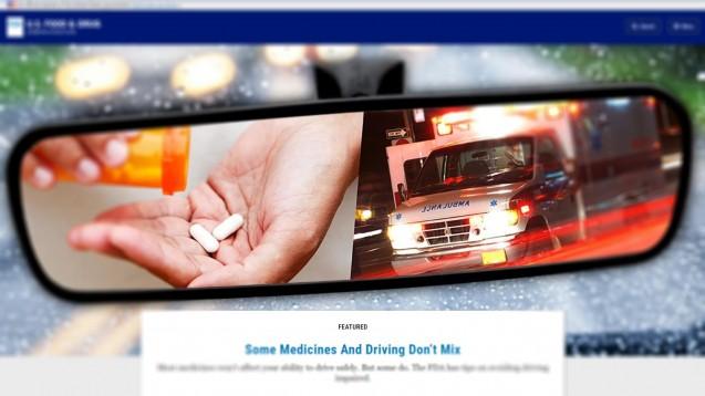 Welche Arzneimittel vertragen sich nicht mit Autofahren? Die FDA hilft Patienten, Symptome und Arzneimittel einzuordnen, die die Fahrtüchtigkeit einschränken können und warnt: Rezeptfreie Arzneimittel sind nicht automatisch unkritisch. (m / Foto: FDA)