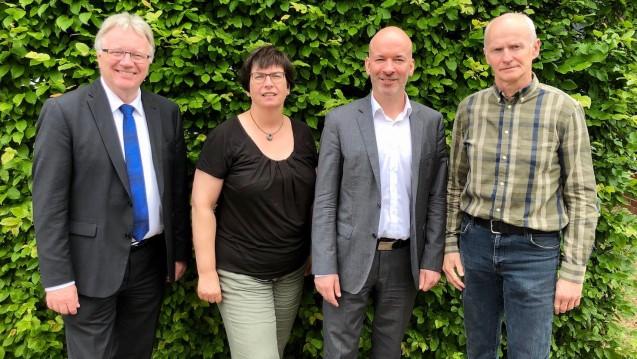 Der alte und neue Vorstand des LAV Sachsen-Anhalt: Vorsitzender Mathias Arnold, Ursula Gütle, Thomas Rößler und Dr. Jens Prantz (v.l. Es fehlt: Gert Fiedler). (Foto: LAV Sachsen-Anhalt)