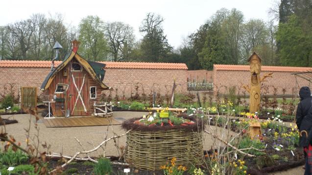 Der Apothekergarten auf der Landesgartenschau Eutin, hier bei Regenwetter zwei Tage vor der offiziellen Eröffnung. (Foto: DAZ.online)