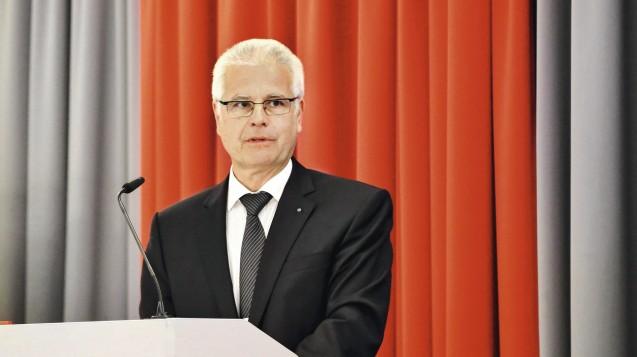 Thomas Benkert gibt sich bei der Delegiertenversammlung optimistisch, was das Rx-Versandverbot betrifft. (Foto: BLAK)